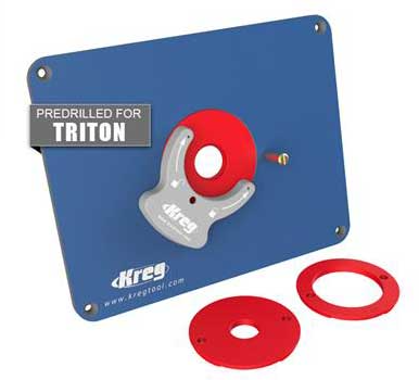 Kreg Tools Router Table Insert Plate, Phenolic, Pre-Drilled for Triton TRA001 & MOF001