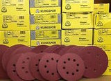 Klingspor Abrasive Discs, 120Grit, 150mmØ, PS22K, GLS3-6 Holes (Box of 50)