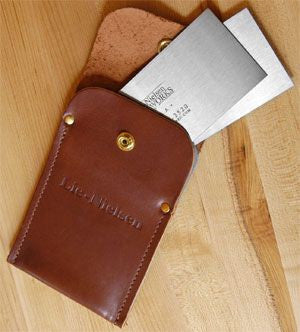 Lie-Nielsen Toolworks Leather Wallet for Hand Cabinet Scrapers