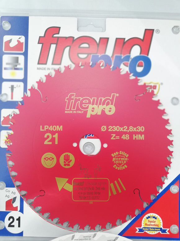 Freud Sawblade, Professional, Ø-230mm, 48 Tooth, Crosscut, LP40M021P