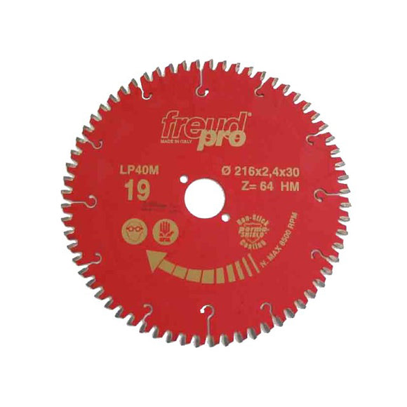 Freud Sawblade, Professional, Ø-216mm, 64 Tooth, for Aluminium, LP40M019P