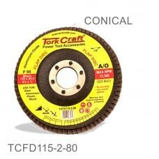 Flap Sanding Disc 115mm 80grit Angled