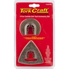 Quick Change Oscilating Carbide Grit Accessory Kit 2 pc Tork Craft TCOA101