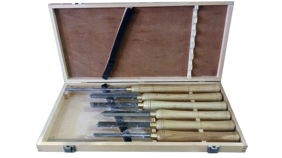 Toolmate Woodturning Tool Set, 6 Piece in Wooden Box, HSS
