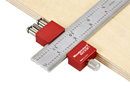 Woodpeckers Rule Stop-1  (for up to 38mm Dia. Ruler)