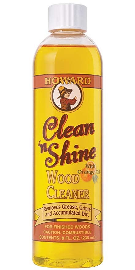 Howard Clean & Shine, Wood Cleaner, 236ml (With Orange Oil)
