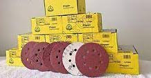 Klingspor Abrasive Discs, 220Grit, 125mmØ, PS22K, GLS5-8 Holes (Box of 50)