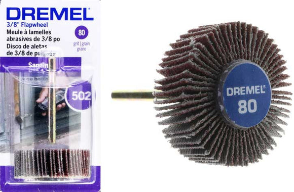 Dremel Flap Wheel 28.6mm 80Grit - 502