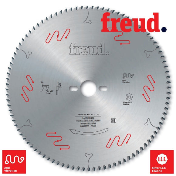 Freud Sawblade, Industrial, Ø-300mm, 96 Tooth, Cross-Cut, LU1I0600