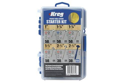 Kreg Pocket Hole Screw Starter Kit,  260 Piece - CHRISTMAS CLEARANCE
