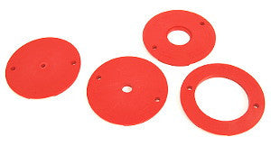 JessEm 4 Piece Insert Ring Set c/w Pre-Drilled Holes for JessEm Lifts and Router Plates