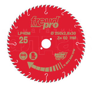 Freud Sawblade, Professional, Ø-250mm, 60 Tooth, LP40M025P