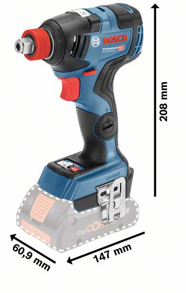 Bosch GDX 18V-200C Professional Cordless Impact Wrench - Solo (Tool Only, no Batteries)