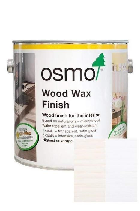 OSMO | Wood Wax Finish, 3186, White Matt, 2.5L