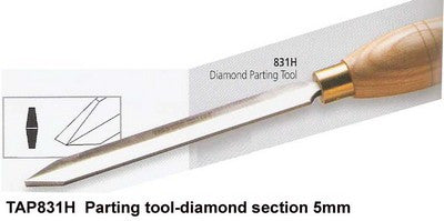 Sorby Chisel Parting Tool Diamond 831H 3/16