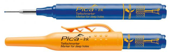Pica Ink Marker, Blue Ink, Deep Hole, Permanent, 150-41