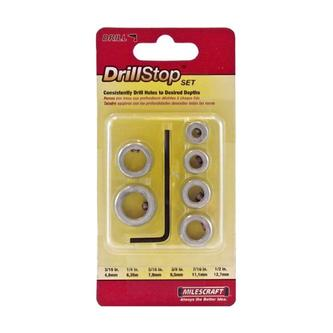Milescraft Drill Stop Set, 7 Piece, Imperial