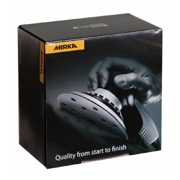 MIRKA Abrasive Disc, Gold, 100 Grit, 6+1 Hole, Velcro 150mmØ, Box of 100