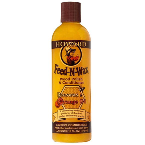 Howard Feed & Wax, Wood Polish & Conditioner, 473ml