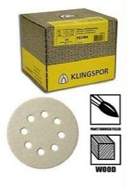 Klingspor Abrasive Discs, 80 Grit, 125mm, PS33CK, GLS5 Holes (Pack of 5)