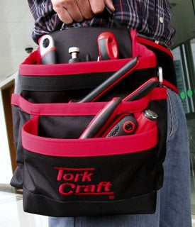 Tool Pouch 5 pockets with Belt, Nylon - Tork Craft