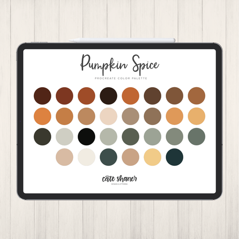 Pumpkin Spice Procreate Color Palette