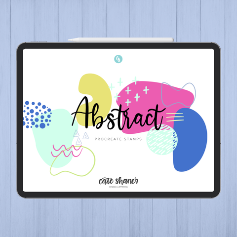 Abstract Procreate Stamps