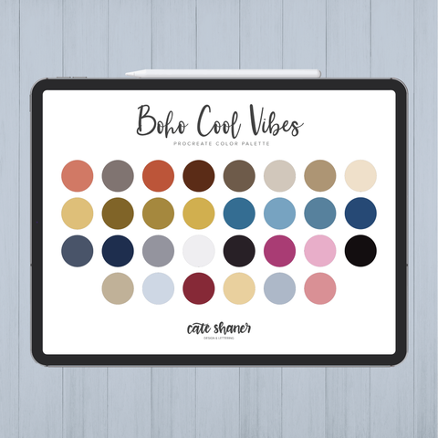 Boho Cool Vibes Procreate Color Palette