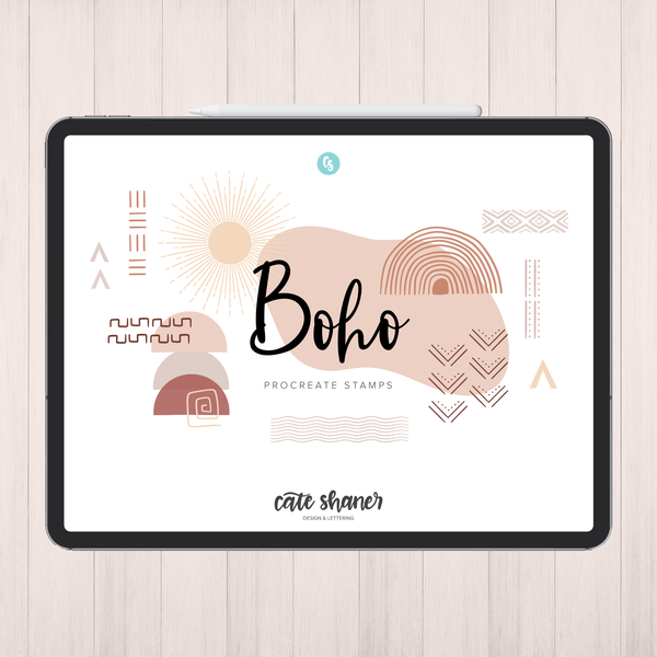 Boho Procreate Stamps