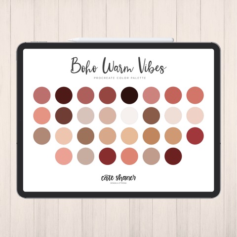 Boho Warm Vibes Procreate Color Palette