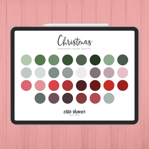 Christmas Procreate Color Palette