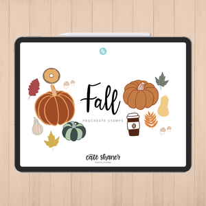 Fall Procreate Stamps