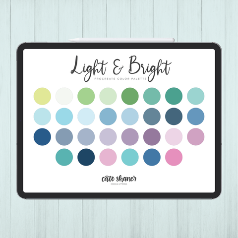 Light & Bright Procreate Color Palette
