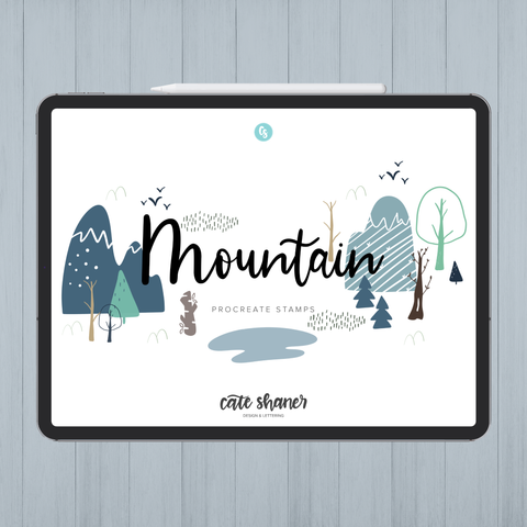 Mountain Procreate Stamps