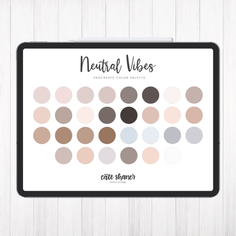 Neutral Vibes Procreate Color Palette