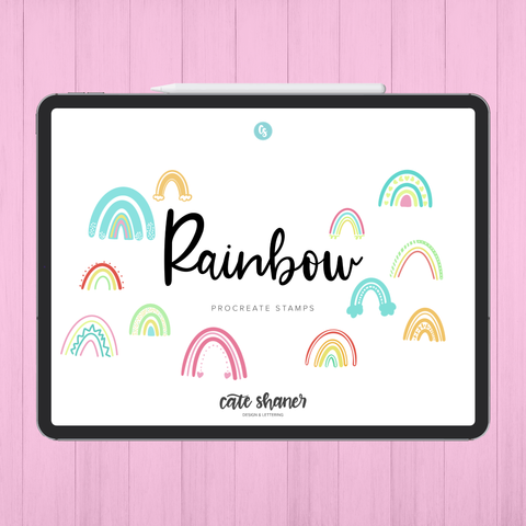 Rainbow Procreate Stamps