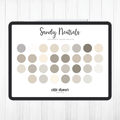 Sandy Neutrals Procreate Color Palette
