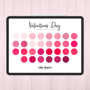 Valentine's Day Procreate Color Palette