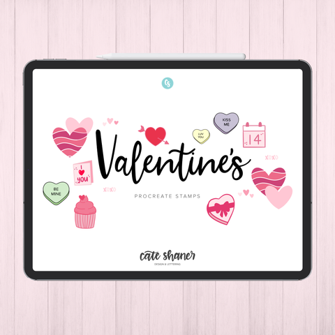 Valentine's Day Procreate Stamps
