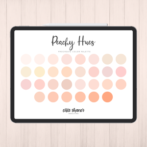 Peachy Hues Procreate Color Palette