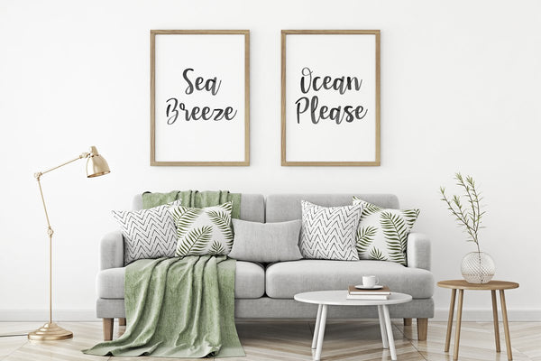 Seaside Font + Watercolor SVG