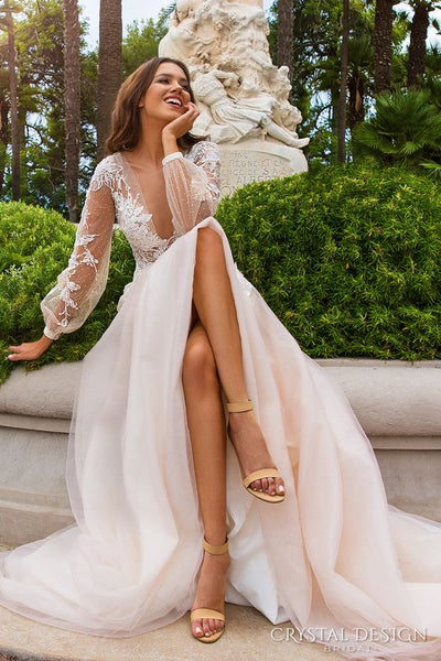 Ivory Bridal Shoes and Sheer Wedding Dresses