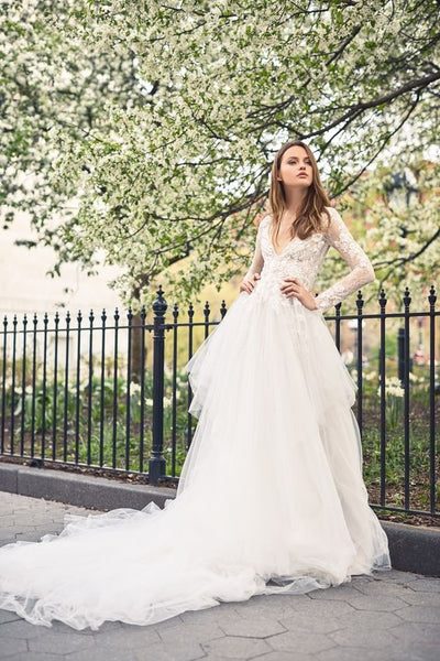 wedding shoes and Monique Lhuillier Wedding Dress