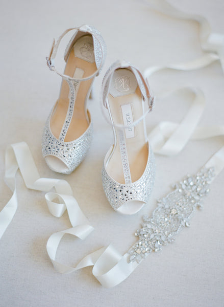 wedding heel sparkly, rhinestone bridal shoes