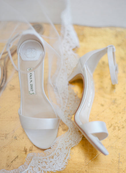 wedding shoes, ivory shoes, bridal sandals