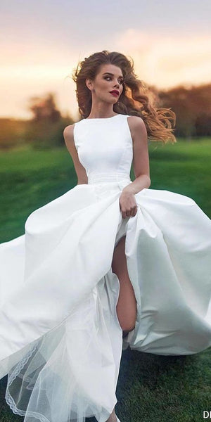 satin wedding dress