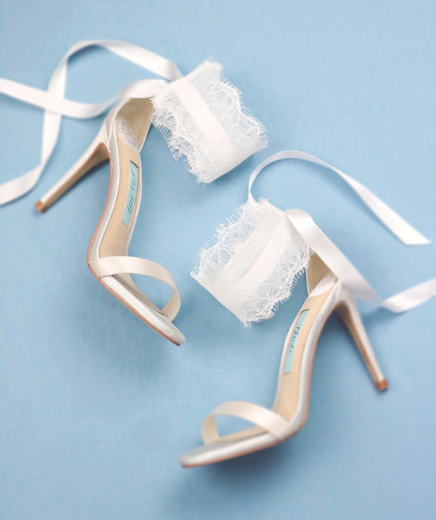 Ivory Wedding Shoes Lace High Heel - Amilia Ivory - Kate Whitcomb Shoes