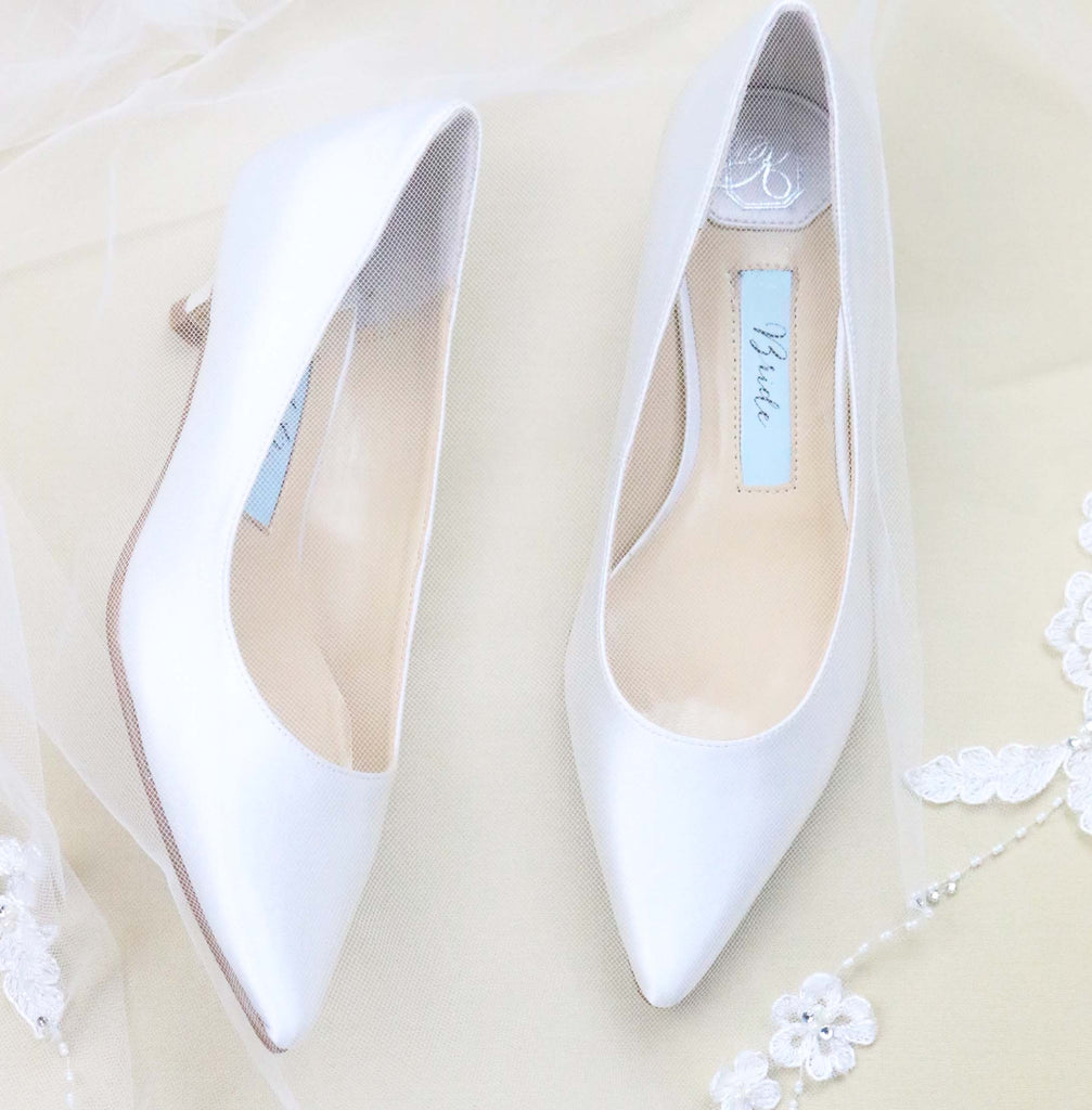 "Wedding Shoes Kitten Heel - ""Eden"" in Ivory"