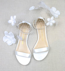 bride shoes, bridal heels, Wedding flat, satin flats, flora, ivory, styled