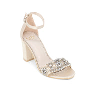 Bridal Shoes Block Heel - Lucy Champagne - Kate Whitcomb Shoes